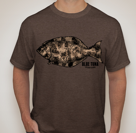 Blue Tuna Spearfishing T-Shirt Anchor Design