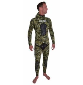 BLUE TUNA SPEARFISHING 7MM GREEN CAMO WETSUIT (TOP & HIGH WAIST BOTTOM)